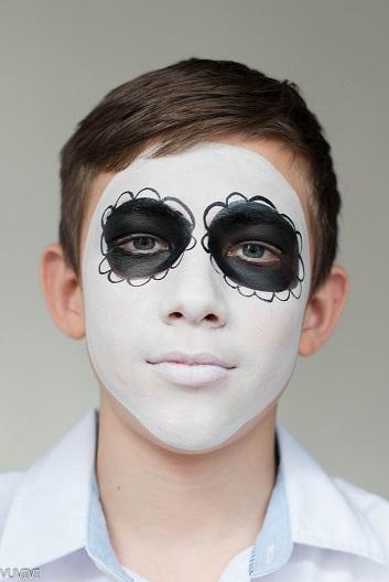 Kinderschminken Fur Jungs Mexikanische Totenmaske Kinderschminken