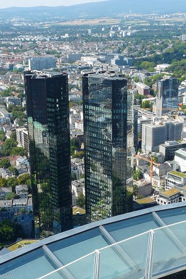 Besucher Plattform Main Tower Frankfurt