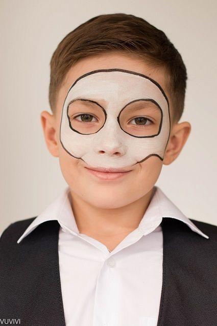 Halloween Kinderschminken Fur Jungs Mexikanische Totenmaske